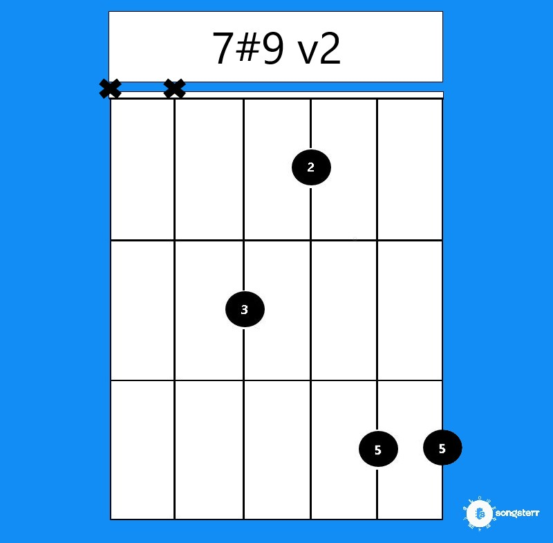 7#9 chord moveable